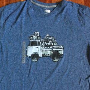 Men's The North Face short sleeve t-shirt Blue XL